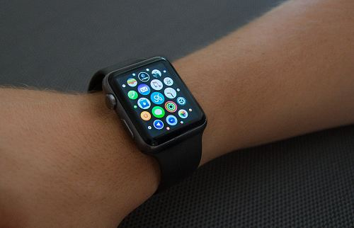 photo black aluminum case Apple Watch free for commercial use images