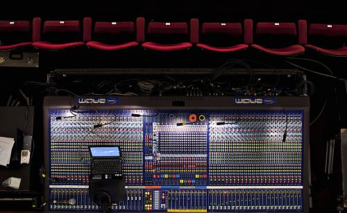 photo flat-lay photo of mixing console free for commercial use images