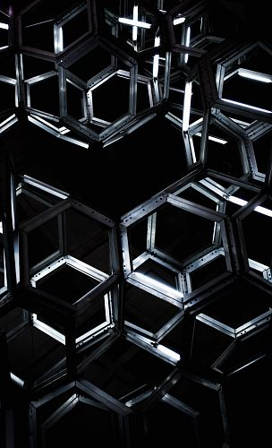 photo geometric black metal hanging decor free for commercial use images