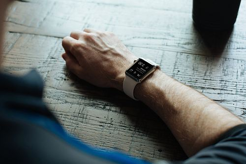 photo man wearing white smartwatch free for commercial use images
