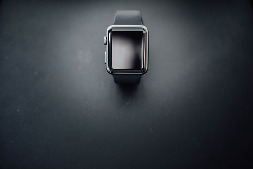 photo shallow focus photography of silver Apple Watch with black Sport Band free for commercial use images