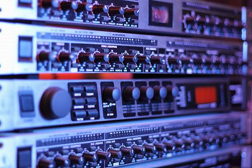 photo shallow photography of black and silver audio equalizer free for commercial use images