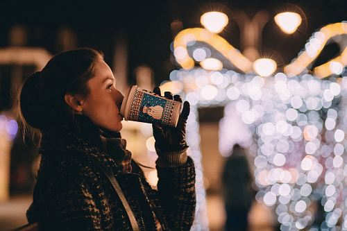 photo woman drinking free for commercial use images