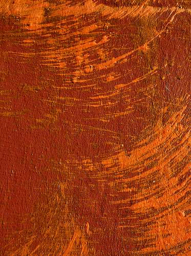 modern art red and orange wall brown