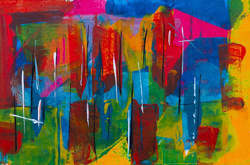 art multicolored abstract painting modern art