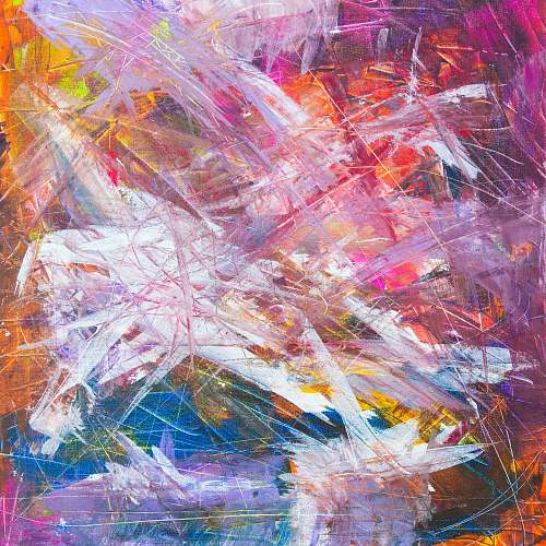 art multicolored scratch abstract painting modern art