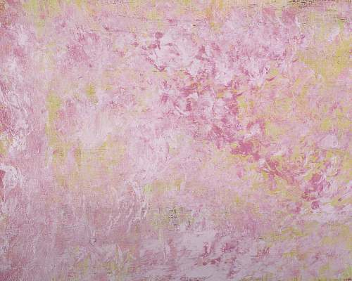 canvas pink and white floral textile painting