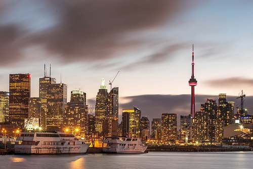 toronto city view during nighttime photography canada