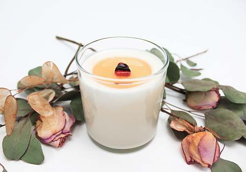 photo drink white tealight candle on white surface milk free for commercial use images