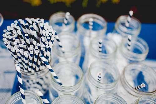 party clear glass jar lot straw