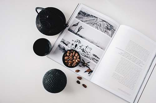 tea selective color photo of teapot and teacup on book lifestyle