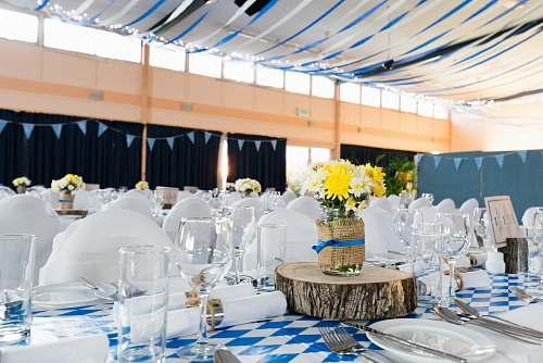 table party dish arrangement event