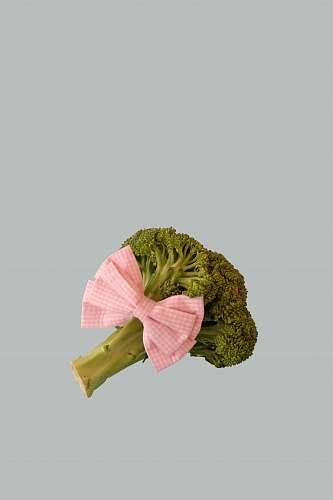 vegetable broccoli vegetable with pink ribbon broccoli