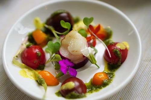 plate vegetable salad on white plate salad