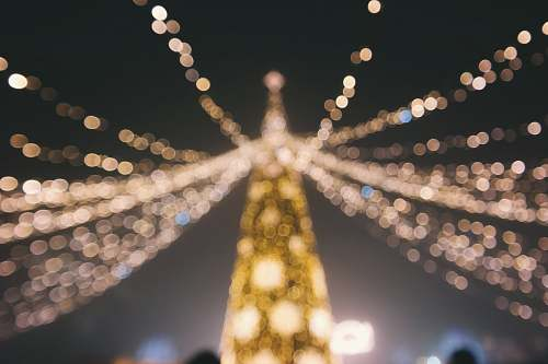 christmas bokeh photography of Christmas tree lights
