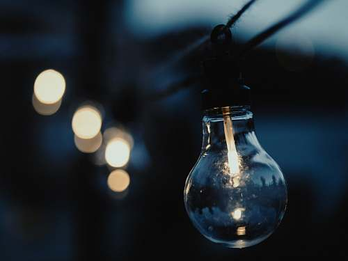 light Edison bulb closeup photography party