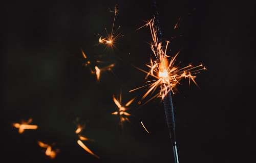 fireworks black and red sparkler nature