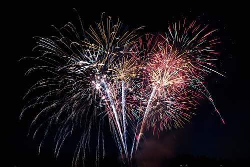 fireworks fireworks at nighttime night