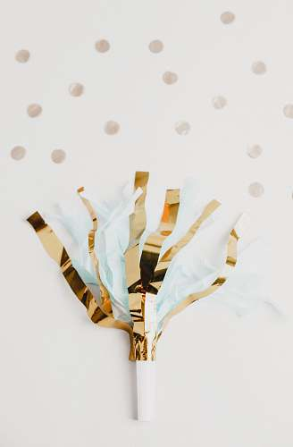 birthday white and brown foil party decor on white panel paper