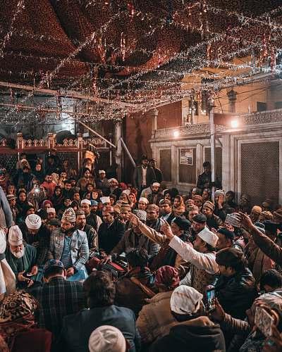human people gathering in room crowd