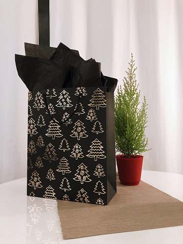photo pot black and gray paper bag on table jar free for commercial use images