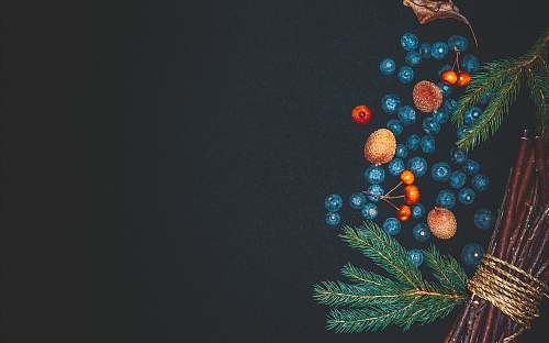 christmas blue, orange, and green painting background