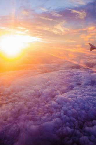 nature aerial photography of white clouds and sunlight sky