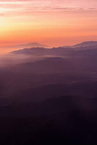 sunrise landscape photography of mountains sky