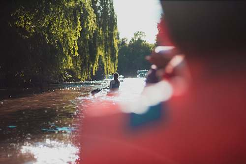 boat person riding kayak tigre