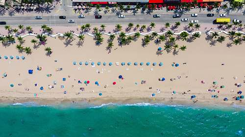 ocean aerial photography of coastline with people florida