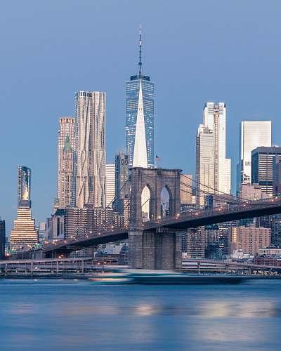 city Brooklyn Bridge, New York architecture