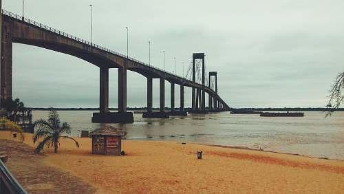 argentina gray concrete bridge scenery corrientes