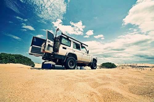 truck car at desert australia