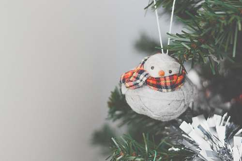 holiday photo of snowman Christmas tree ornament decor
