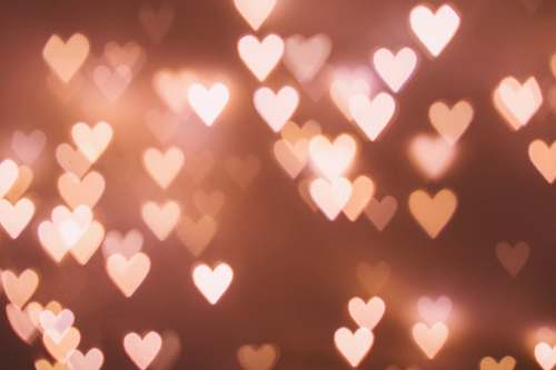 hearts heart bokeh light valentine