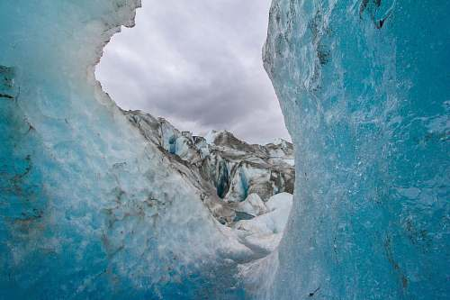 ice photo of sea waves glacier
