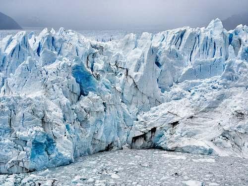 glacier white glacier ice
