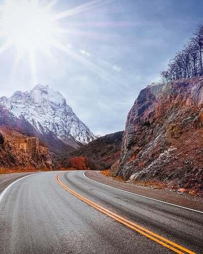 argentina road near mountain alps ushuaia