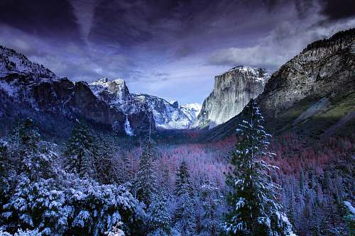 mountain photo of mountains and trees nature