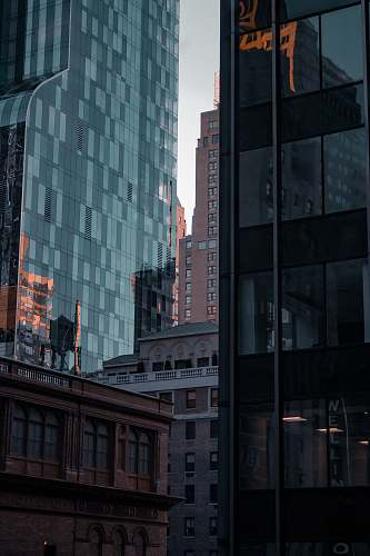 office building glass high-rise buildings new york