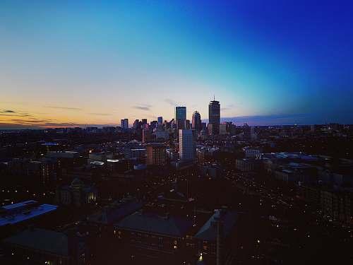 city birds eye photography of city buildings boston