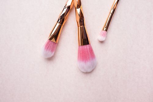 photo gold-colored makeup brushes free for commercial use images