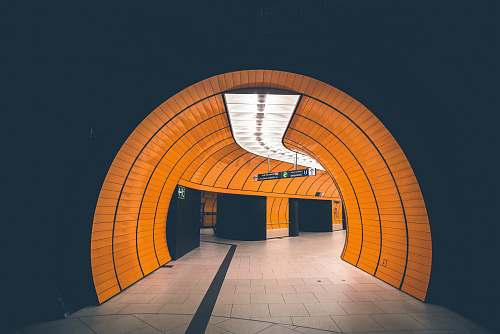 orange photography of empty tunnel germany