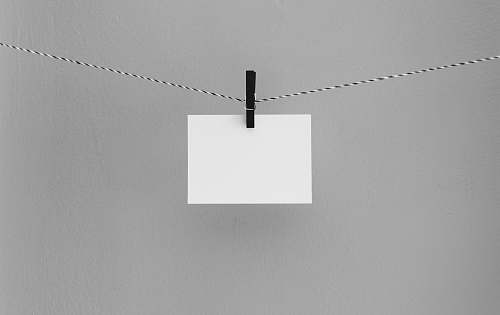 paper hanged white printing paper blank