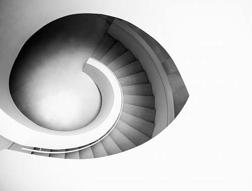 architecture spiral staircase grey