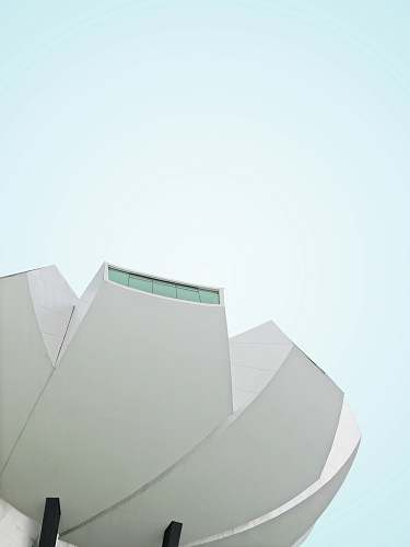 architecture low angle photography of white painted building grey