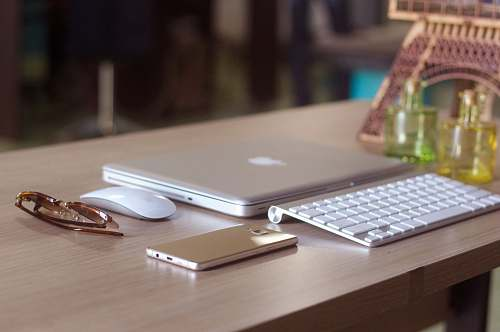 keyboard silver MacBook hardware