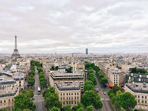 building aerial photography Eiffel Tower, Paris city