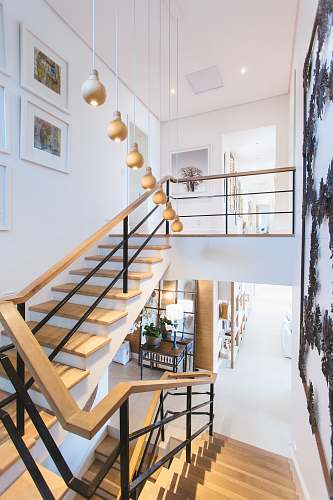 home brown staircase design