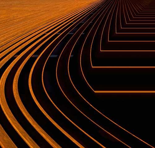 abstract orange digital wallpaper lines